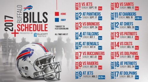 My Take: Bills 2017 Schedule